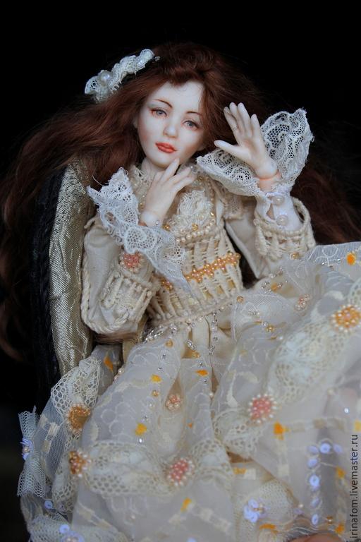Коллекционные куклы ручной работы. Ярмарка Мастеров - ручная работа. Купить Фарфоровая шарнирная Куколка. Handmade. Бежевый, фарфоровая кукла