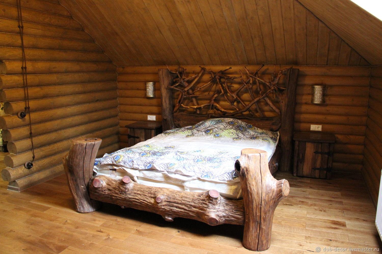 кровати из бревен фото