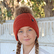 Аксессуары handmade. Livemaster - original item Female knitted cap knitting. Handmade.