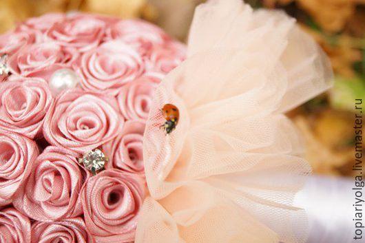 """Свадебные цветы ручной работы. Ярмарка Мастеров - ручная работа. Купить Букет дублер """"Нежность"""". Handmade. Кремовый, бусины"""