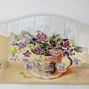 """Для дома и интерьера ручной работы. Ярмарка Мастеров - ручная работа Вешалка-панно """"Нарядная"""". Handmade."""