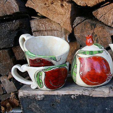Посуда ручной работы. Ярмарка Мастеров - ручная работа Кружки Гранат. Керамика ручной работы. Handmade.