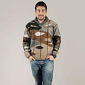 Одежда ручной работы. Ярмарка Мастеров - ручная работа Sirogojno style мужской джемпер кофейного цвета, 4298. Handmade.