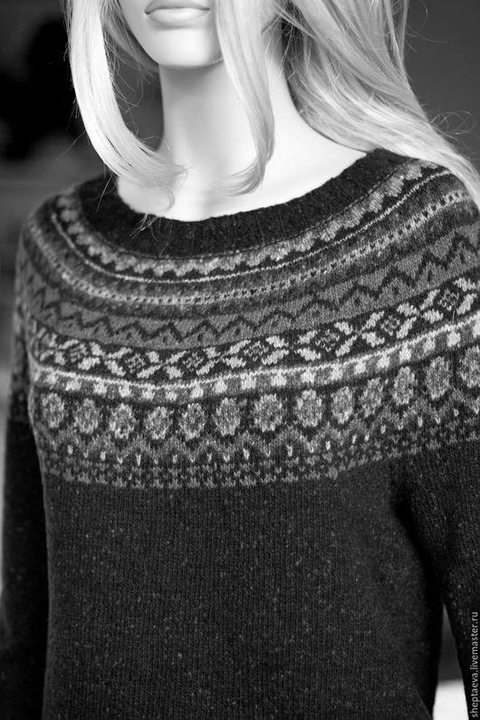 """Кофты и свитера ручной работы. Ярмарка Мастеров - ручная работа. Купить Жаккардовый женский свитер """"Финикия"""". Handmade. Комбинированный"""