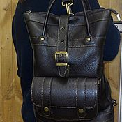 Сумки и аксессуары handmade. Livemaster - original item Backpack-leather bag 62. Handmade.