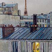 Картины и панно ручной работы. Ярмарка Мастеров - ручная работа Парижские сумерки. Handmade.