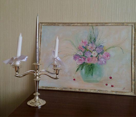 """Картины цветов ручной работы. Ярмарка Мастеров - ручная работа. Купить """"Воздух"""". Handmade. Шебби-шик"""