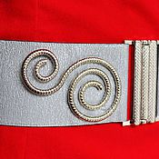 Аксессуары handmade. Livemaster - original item belt-elastic band Snail a Silver belt may be a different color and height. Handmade.