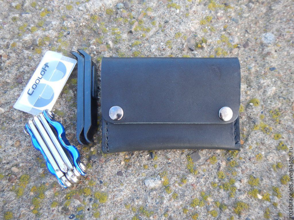 Bike leather holder wallet for tools and patches, Wallets, Ulyanovsk,  Фото №1