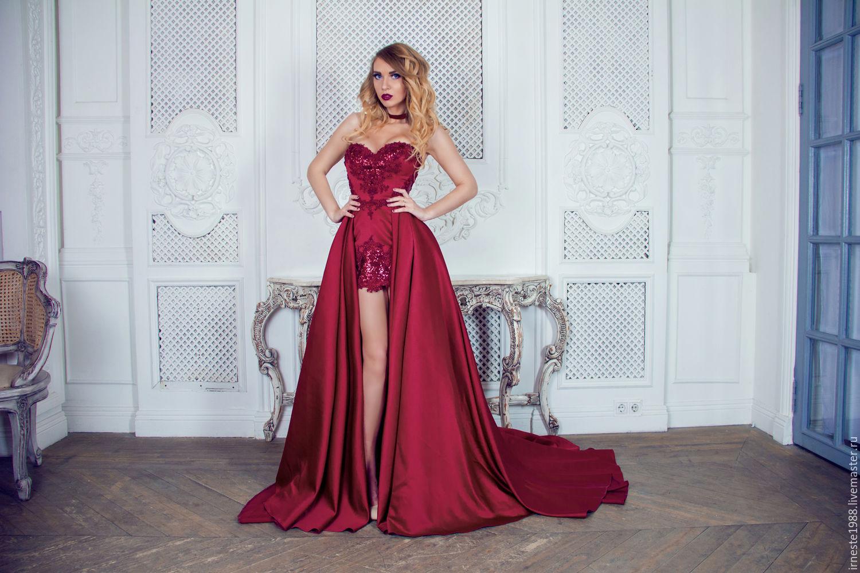 Платье вечерние со шлейфом