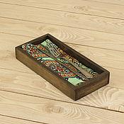 Подставки ручной работы. Ярмарка Мастеров - ручная работа Лоток для столовых приборов. Handmade.