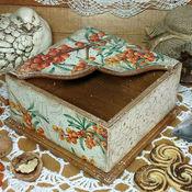 """Для дома и интерьера ручной работы. Ярмарка Мастеров - ручная работа салфетница """"Облепиха"""". Handmade."""