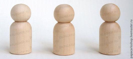 """Человечки ручной работы. Ярмарка Мастеров - ручная работа. Купить Деревянные куколки-фигурки """"мальчик"""" 7-8 см, упаковка 5 шт.. Handmade."""