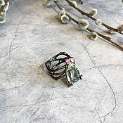 Кольца ручной работы. Ярмарка Мастеров - ручная работа Авторское Кольцо ручной работы из серебра с зелёным аметистом. Handmade.