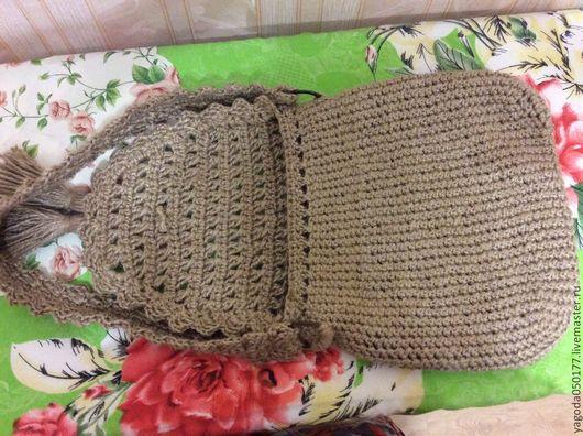 вязание сумки из джута