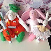 Куклы и игрушки ручной работы. Ярмарка Мастеров - ручная работа Мягкие зайки-лапули. Handmade.
