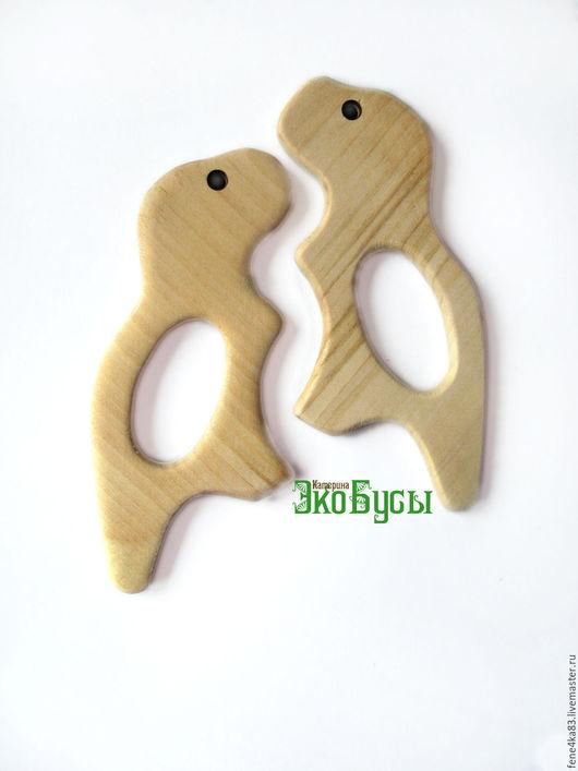 """Для украшений ручной работы. Ярмарка Мастеров - ручная работа. Купить Грызунок деревянный """"Динозавр"""". Handmade. Грызунок, прорезыватель, динозаврик"""