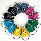 handmade. Livemaster - original item Accessories for dolls and toys: Sneakers for dolls wide 7 cm. Handmade.