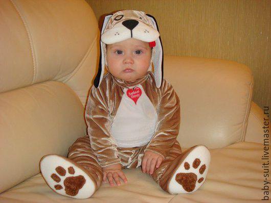 Карнавальный новогодний костюм Щенка Тоби для малышей и детей