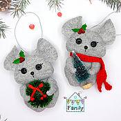 Сувениры и подарки handmade. Livemaster - original item Mouse with accessories-symbols of 2020. Mouse felt.. Handmade.
