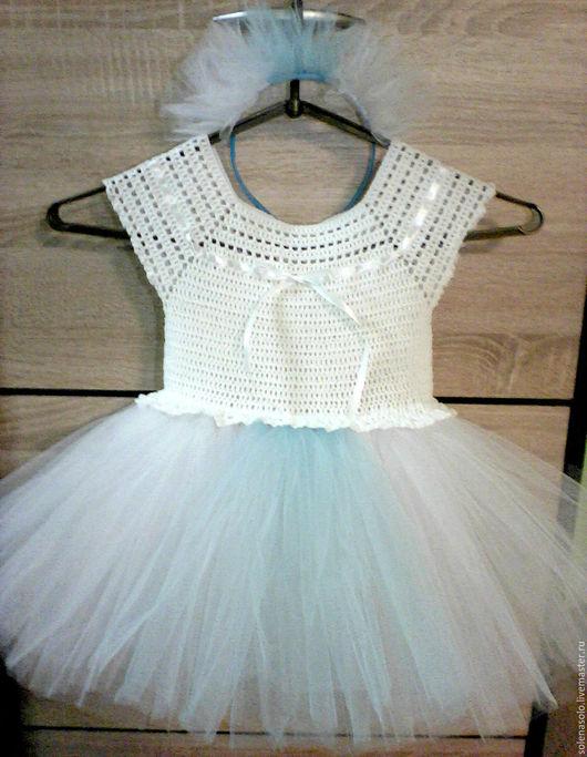 """Одежда для девочек, ручной работы. Ярмарка Мастеров - ручная работа. Купить Платье для девочки. """"Снежинка"""". Handmade. Белый, Платье нарядное"""