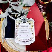 """Свадебный салон ручной работы. Ярмарка Мастеров - ручная работа Приглашение """"Маска"""". Handmade."""