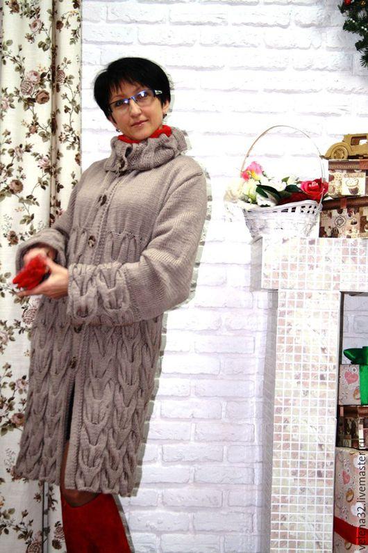 """Верхняя одежда ручной работы. Ярмарка Мастеров - ручная работа. Купить Пальто """"Город"""". Handmade. Бежевый, пальто демисезонное"""