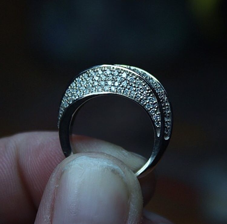 Ring with diamonds, Rings, Moscow,  Фото №1
