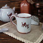 Посуда handmade. Livemaster - original item Ceramic mug