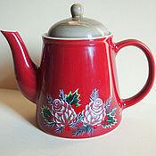 """Посуда ручной работы. Ярмарка Мастеров - ручная работа Чайник """"Новогоднее чаепитие"""". Handmade."""
