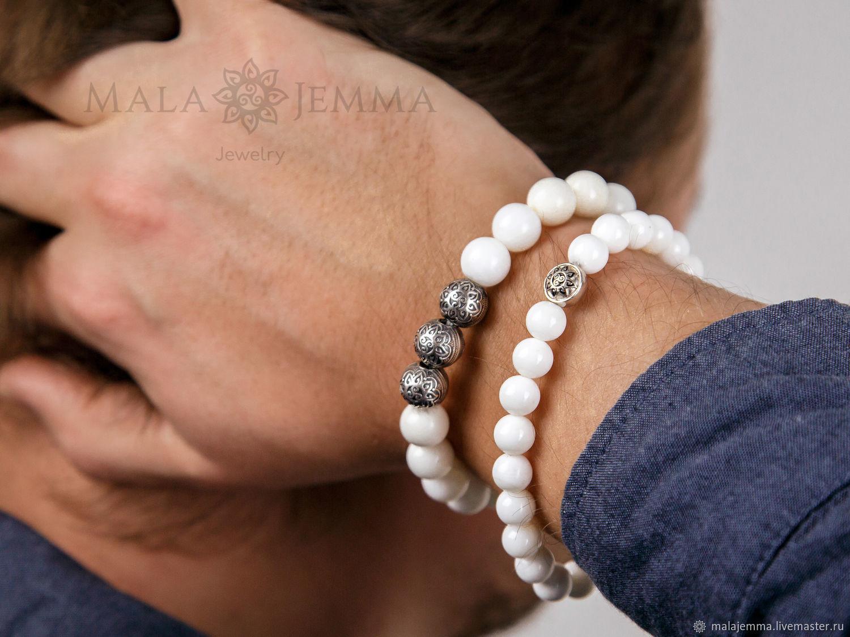 Stylish men's bracelet made of sea shells, Bead bracelet, Magnitogorsk,  Фото №1