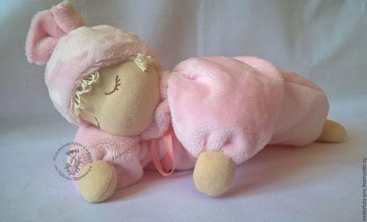 Вальдорфская игрушка ручной работы. Ярмарка Мастеров - ручная работа. Купить Куколка сплюшка. Handmade. Розовый, сплюшка, куколка для девочки