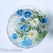 Посуда handmade. Livemaster - original item Plate of colored glass fusing