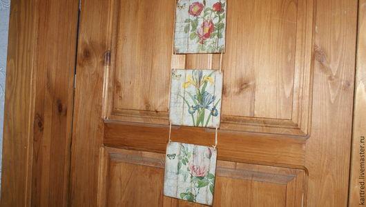 Картины цветов ручной работы. Ярмарка Мастеров - ручная работа. Купить Панно-триптих,,Весна на Заречной улице,,-продано. Handmade.