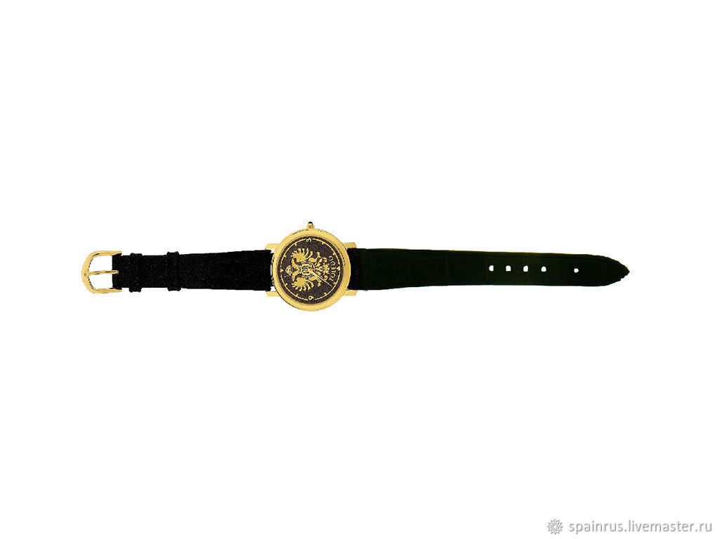 Винтаж Испания. Интернет · Часы ручной работы. Заказать Наручные часы  техника Дамаскин Золото 24К черные. 9cf4fc876cf