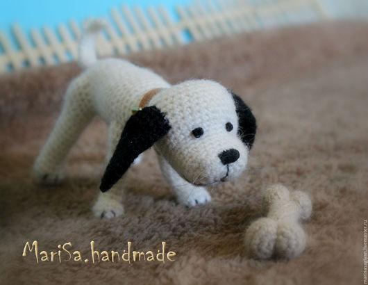 Игрушки животные, ручной работы. Ярмарка Мастеров - ручная работа. Купить Бимка. Handmade. Белый, собака, животные, ирис