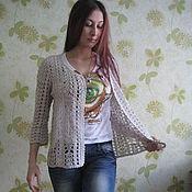"Одежда ручной работы. Ярмарка Мастеров - ручная работа Жакет ""Серебро"". Handmade."