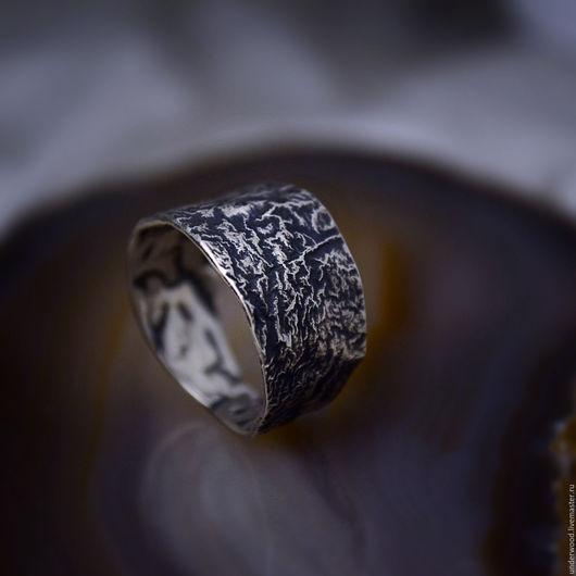 Кольца ручной работы. Ярмарка Мастеров - ручная работа. Купить Серебряное кольцо Лава. Handmade. Серебряный, кованое кольцо