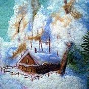 """Классическая сумка ручной работы. Ярмарка Мастеров - ручная работа Валяная сумка """"Зимушка-зима"""". Handmade."""
