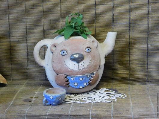 """Экстерьер и дача ручной работы. Ярмарка Мастеров - ручная работа. Купить Набор """"Чай с мятой"""". Handmade. Комбинированный, медведь, ландшафт"""