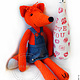 Knitted toy. Fox. Stuffed Toys. GALAtoys. Online shopping on My Livemaster.  Фото №2