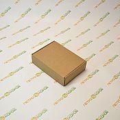 Коробки ручной работы. Ярмарка Мастеров - ручная работа 20х15х5см Самосборная коробка  бурая. Handmade.
