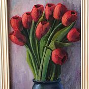 Для дома и интерьера handmade. Livemaster - original item Picture with tulips