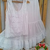 Одежда handmade. Livemaster - original item Cotton blouse in a linen style.. Handmade.