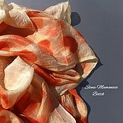 Аксессуары ручной работы. Ярмарка Мастеров - ручная работа Шелковый шарф Шикарный эвкалипт, шелковый шарф экопринт. Handmade.