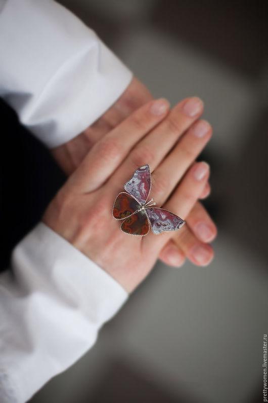 """Кольца ручной работы. Ярмарка Мастеров - ручная работа. Купить Кольцо из агата """"На марсе"""". Handmade. Кольцо, кольцо с камнем"""