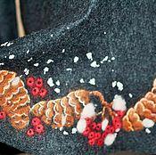 """Одежда ручной работы. Ярмарка Мастеров - ручная работа Женское валяное платье """"Шишки и рябина"""". Handmade."""