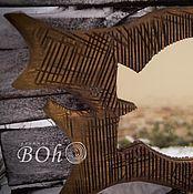 """Для дома и интерьера ручной работы. Ярмарка Мастеров - ручная работа Бохо зеркало """"Три рыбы"""". Handmade."""