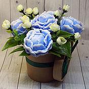 Косметика ручной работы handmade. Livemaster - original item A small soapy bouquet of five peonies. Handmade.