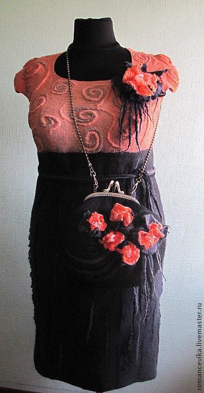 """Платья ручной работы. Ярмарка Мастеров - ручная работа. Купить платье  по мотивам """" Весеннее обострение  """" валяное. Handmade."""